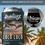 African Beer cup silver loco coco
